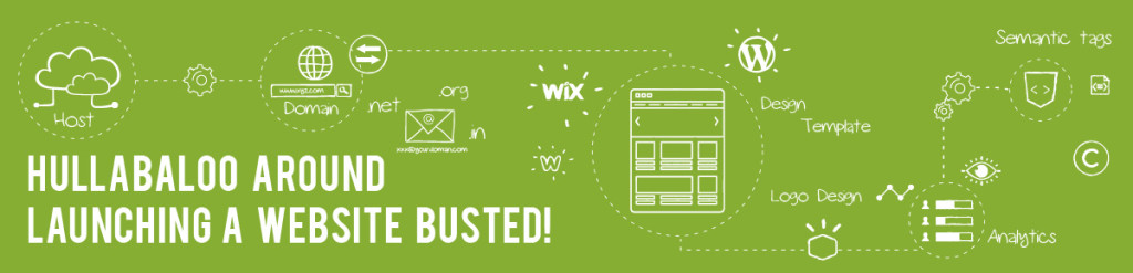 Hullabaloo Around Launching a Website Busted - Infographic